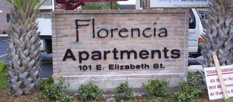 Florencia Apartments sign