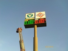 gas station sign prices